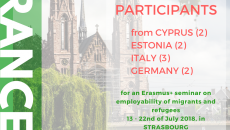 (English) Open call for participants : Erasmus+ seminar on employability of migrants and refugees, Strasbourg, France, 13-22 July 2018